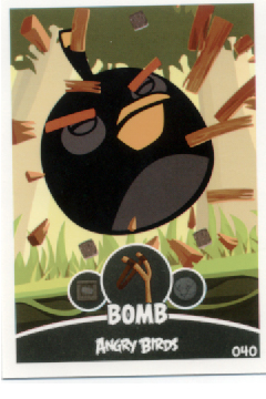 ANGRY BIRDS TRADING CARD E-MAX - BOMB #040